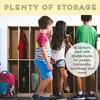 ECR4Kids 16-Section Classroom Coat Locker - Slim-Fit Birch Storage for Schools - image 4 of 4