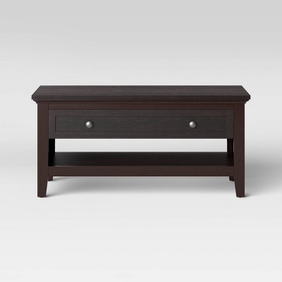 Carson Coffee Table Espresso Brown - Threshold™