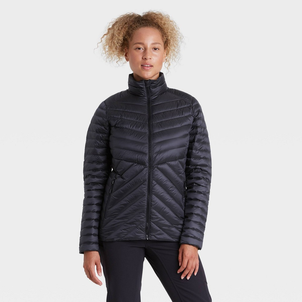 Top Women' Packable Down Puffer Jacket - All in Motion™ Black