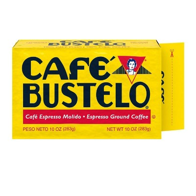 Café Bustelo Espresso Vacuum-Packed Dark Roast Ground Coffee - 10oz