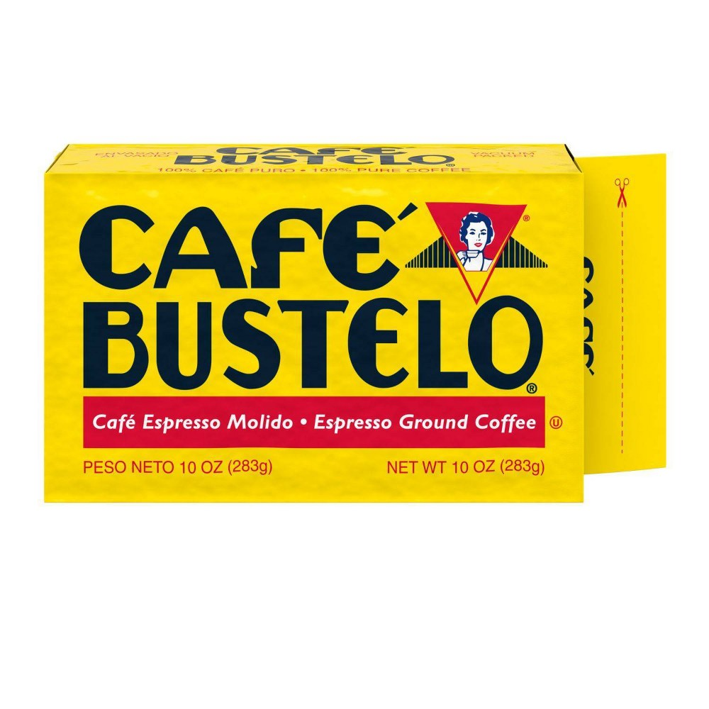 Caf 233 Bustelo Espresso Vacuum Packed Dark Roast Ground Coffee 10oz