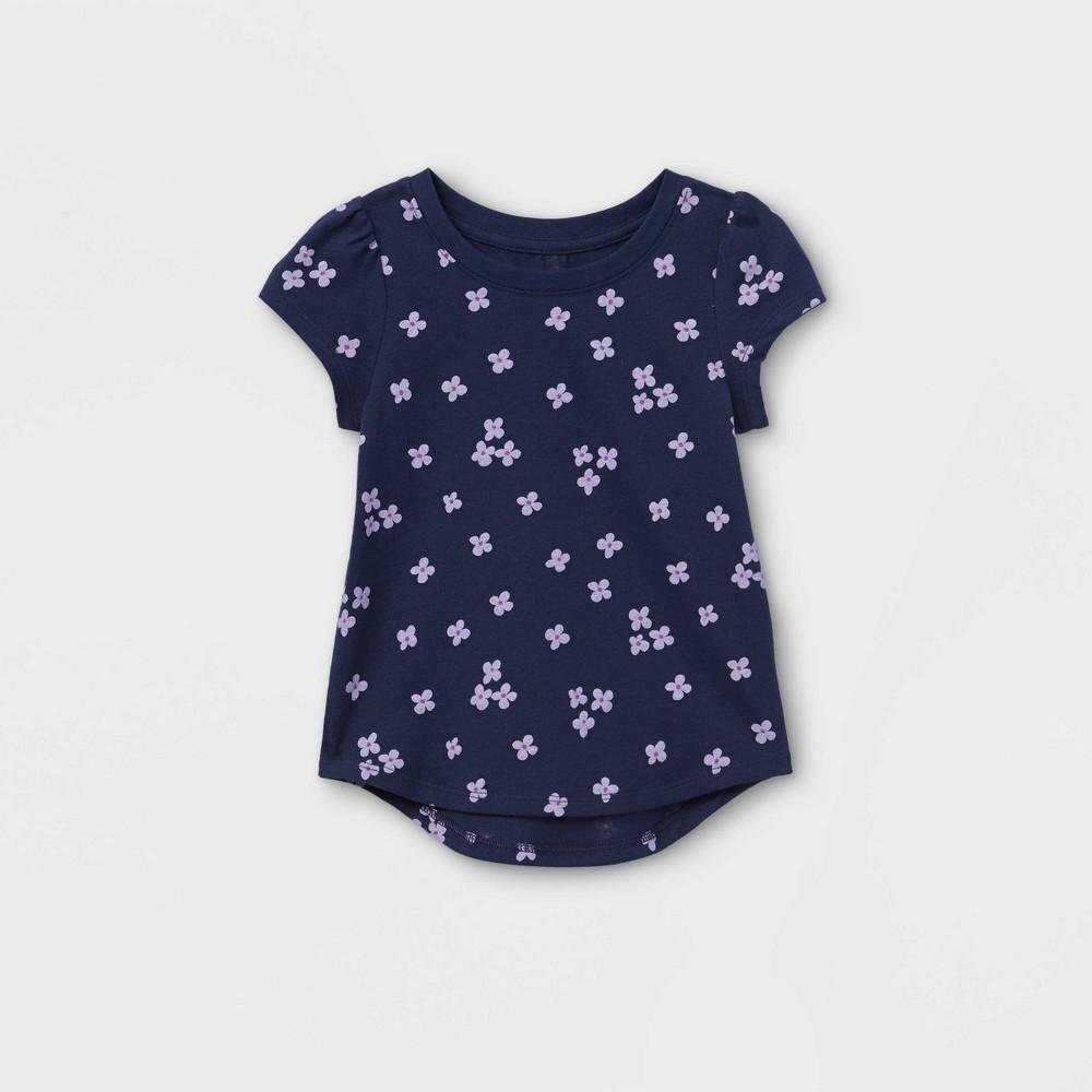 Toddler Girls 39 Floral Short Sleeve T Shirt Cat 38 Jack 8482 Navy 3t