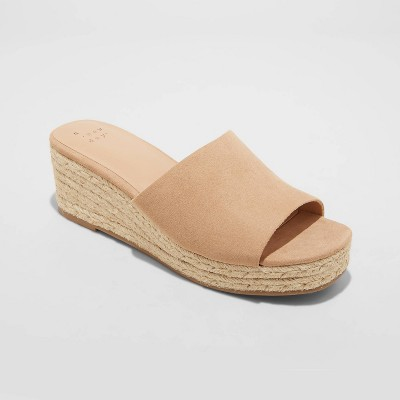 Women's Mavis Espadrille Mule Wedges - A New Day™