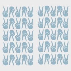 Peace Signs Removable Wall Decal Blue - Room Essentials™