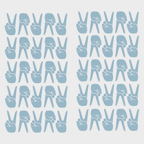 Peace Signs Removable Wall Decal Blue - Room Essentials™ - image 1 of 2