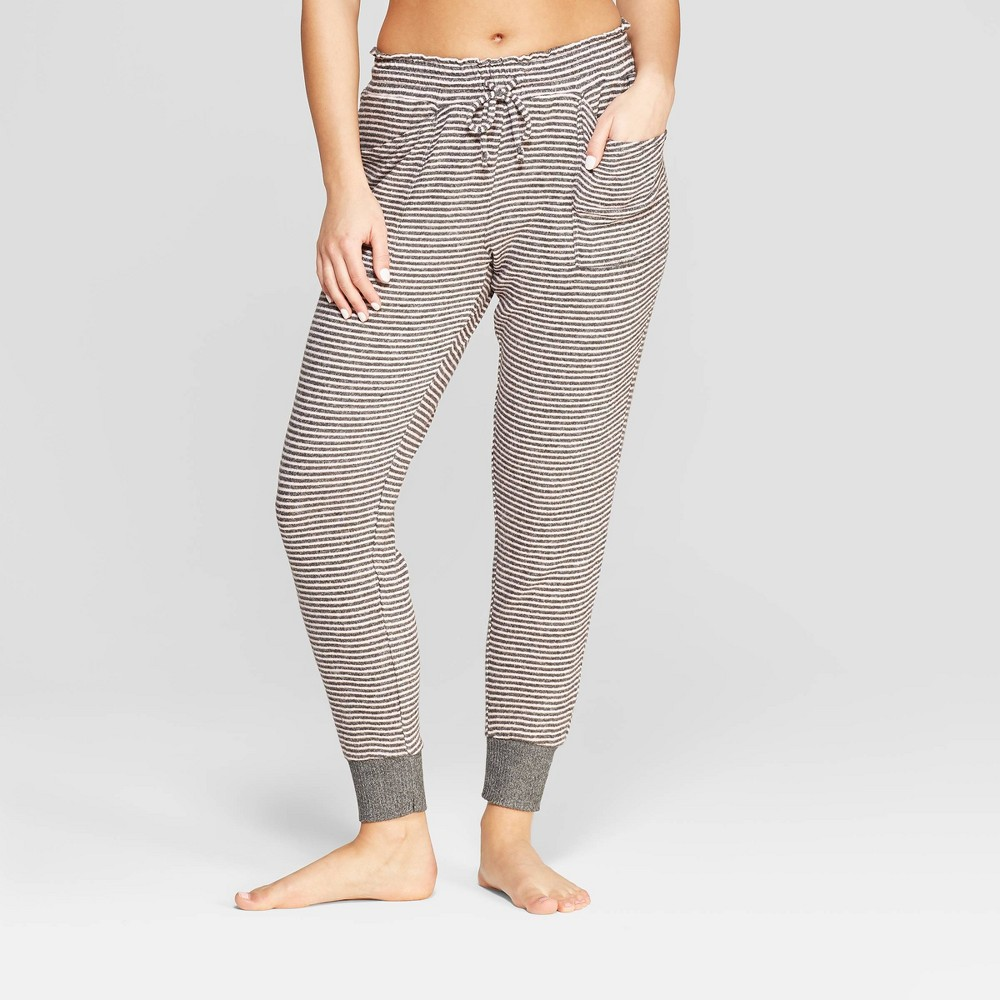 Women's Striped Perfectly Cozy Lounge Jogger Pants - Stars Above Gray XL, Pink