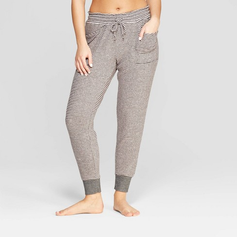 Women's Striped Perfectly Cozy Lounge Jogger Pants - Stars Above™ Gray XS - image 1 of 2