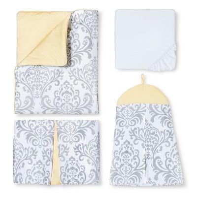 Sweet Jojo Designs 11pc Yellow Avery Crib Bedding Set - Yellow-Gray-White