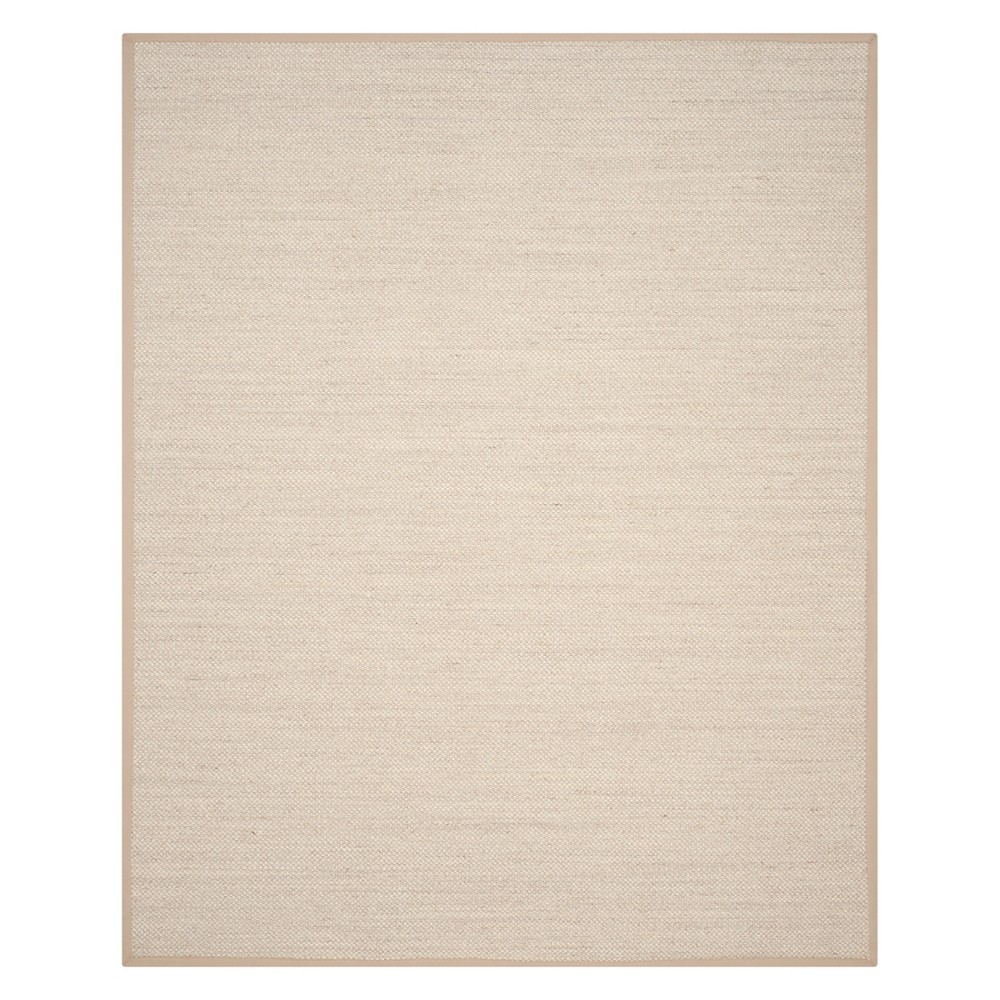 Solid Loomed Area Rug Marble/Linen