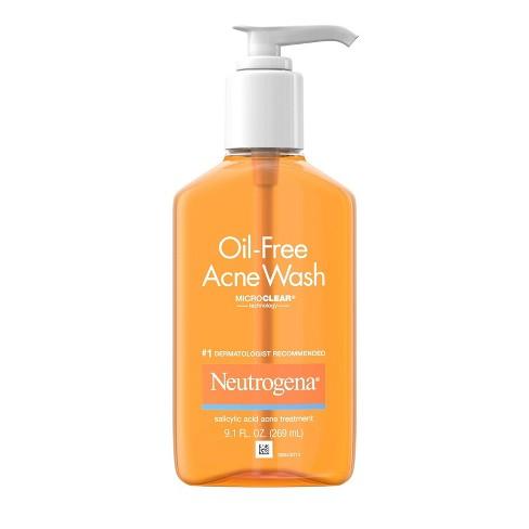 Neutrogena Oil-Free Salicylic Acid Acne Fighting Face Wash - 9.1 fl oz - image 1 of 4