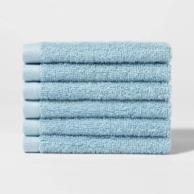6pk Washcloth Set Blue - Room Essentials™