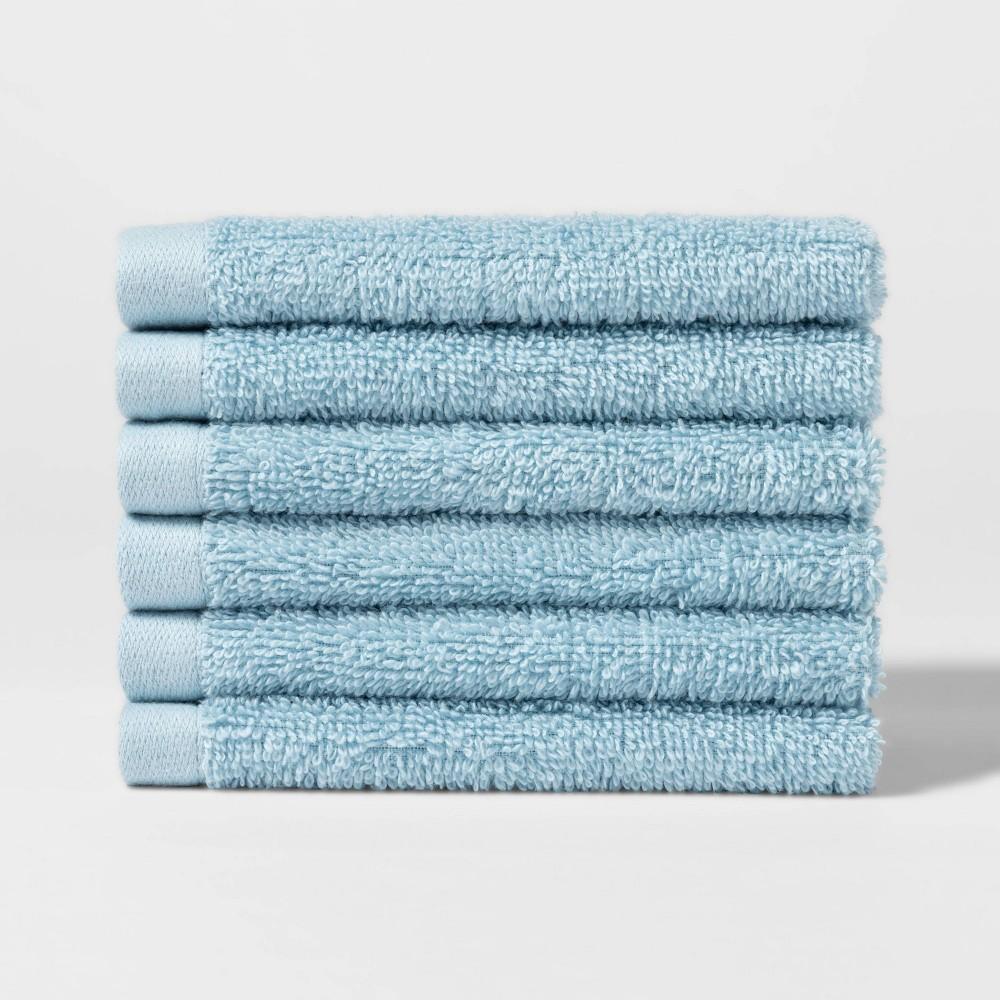 "Image of ""12""""X12"""" 6pk Washcloth Set Blue - ? - Room Essentials"""