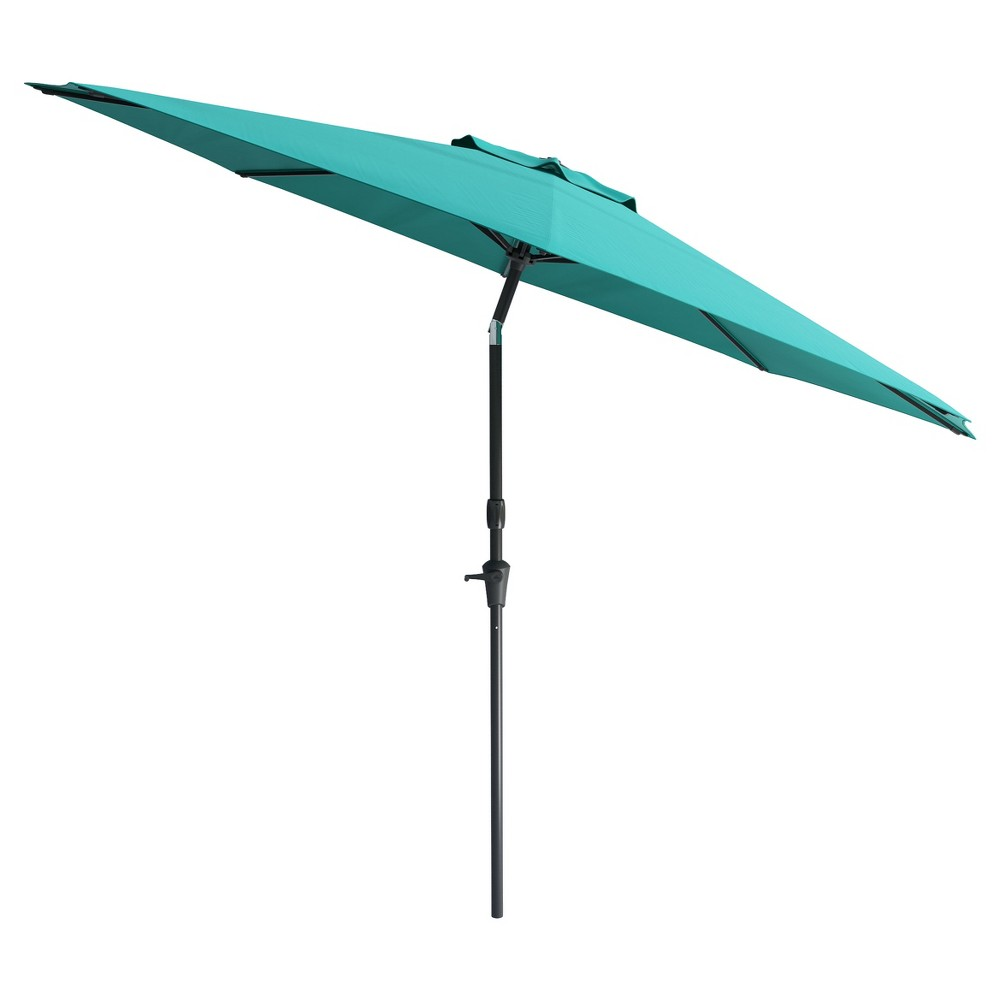 Image of 7' Wind Resistant Tilting Patio Umbrella - Blue - CorLiving, Turquoise