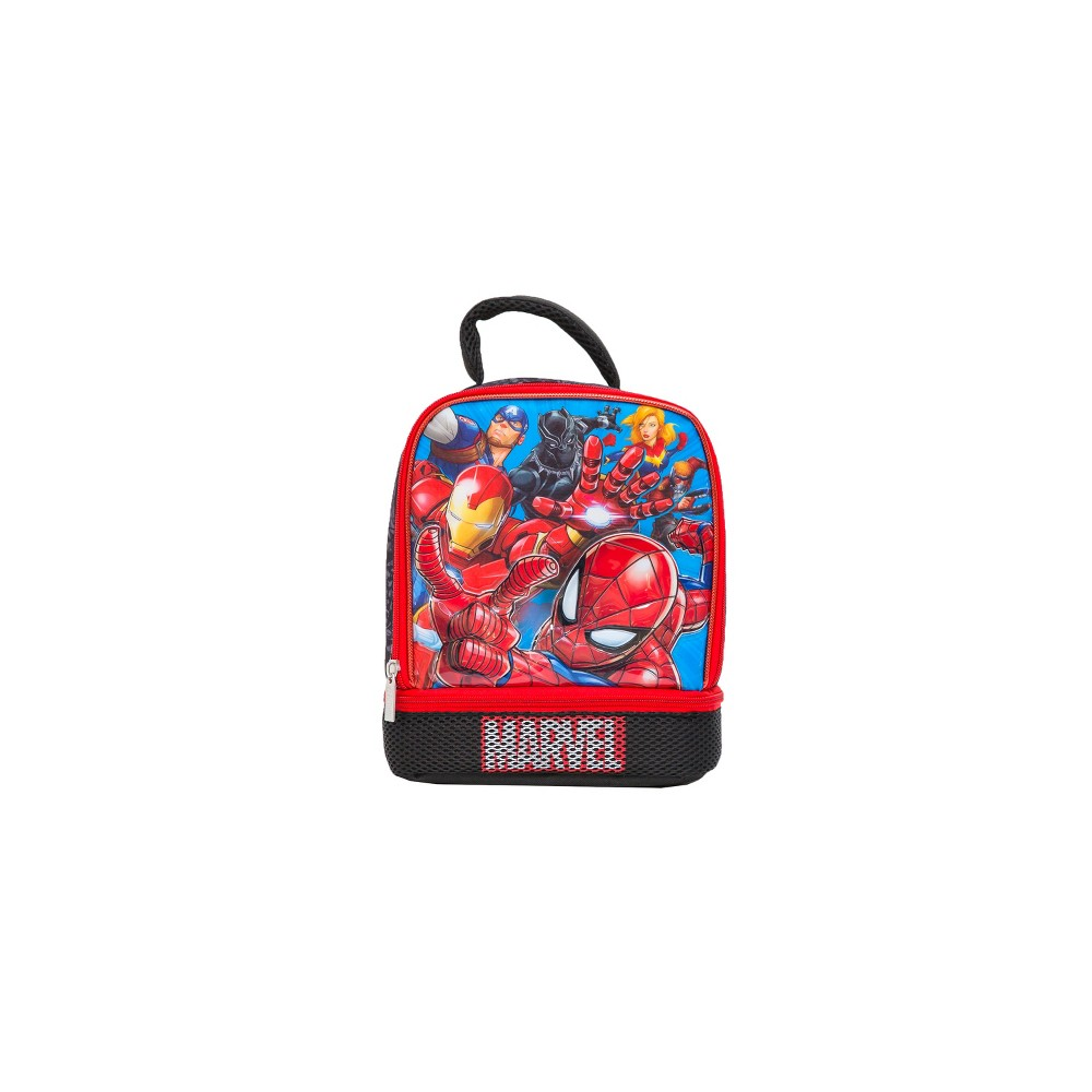 Image of Marvel Avengers Lunch Bag - Red/Black, Multi-Colored