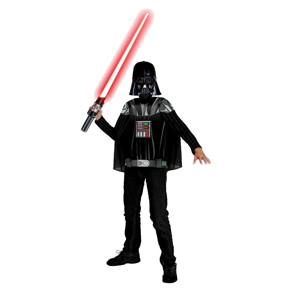 Star Wars Darth Vader Boys' Costume Medium (8-10), Size: M(8-10), Black