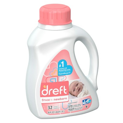 Dreft Stage 1: Newborn HEC Liquid Detergent 50 oz