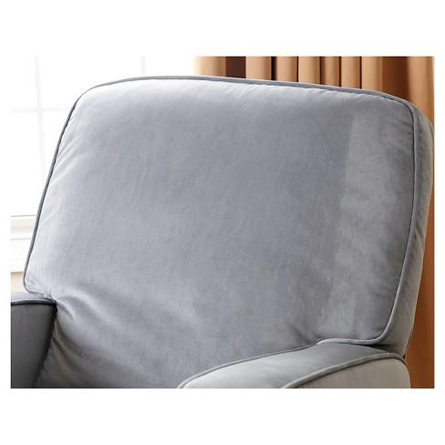 Bella Fabric Swivel Glider Recliner Chair Gray Abbyson Living Target