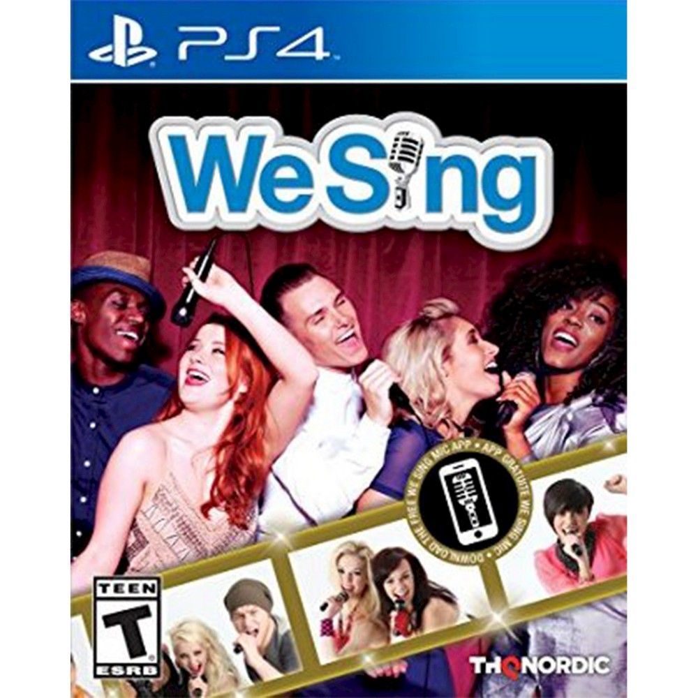We Sing PlayStation 4, Video Games Show off your vocal chops with We Sing (PlayStation 4) - Nordic Games. The game works for PlayStation 4 consoles. The interactive video game provides hours of fun and is recommended for players 13 and older.