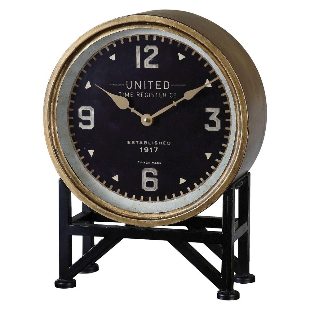 Shyam Table Clocks Black/Brass - Uttermost