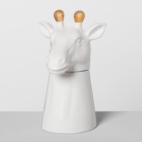 Giraffe Ceramic Cookie Jar White - Opalhouse™ - image 1 of 2