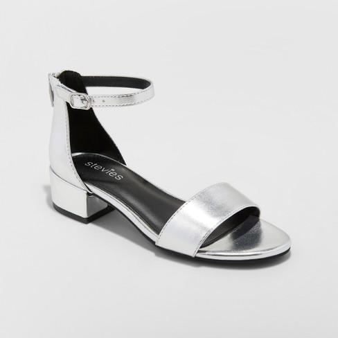 75d27a2e489 Girls  Dressy Heeled Current mood Sandals - Stevies - Silver 3   Target