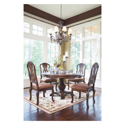 North Shore Dining Uph Side Chair Dark Brown Signature Design By