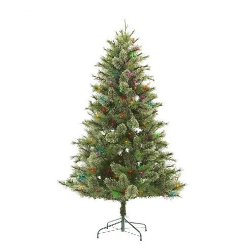 Sparse Christmas Tree Artificial.6ft Pre Lit Artificial Christmas Tree Virginia Pine Multicolored Lights Wondershop