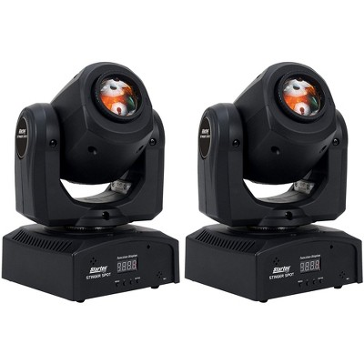 ADJ Products STINGER SPOT 10-Watt LED Startec Stinger Moving Head Mini Spotlight with 7 Colors and 7 Gobos (2 Pack)