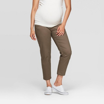 Maternity Crossover Panel Chino Pants - Isabel Maternity by Ingrid & Isabel™
