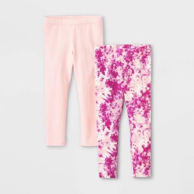 Toddler Girls' 2pk Tie-Dye & Sparkle Leggings - Cat & Jack™ Powder Pink