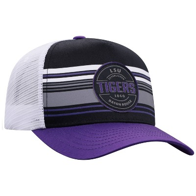 NCAA LSU Tigers Men's Vista Black with Hard Mesh Snapback Hat