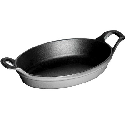 Staub Cast Iron 8-inch x 5.5-inch Oval Gratin Baking Dish