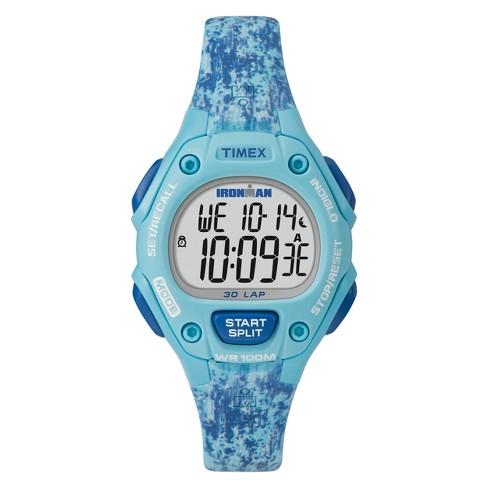 Women's Timex Ironman Classic 30 Lap Digital Watch - Blue TW5M16200JT - image 1 of 3