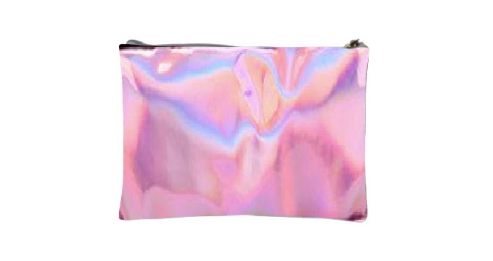 Image of Adore Holographic Metallic Pink Bag, Multi-Colored