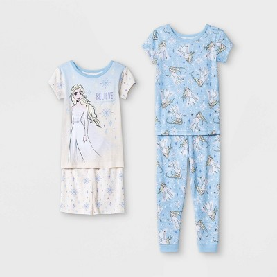 Toddler Girls' 4pc Frozen 2 Pajama Set - Blue