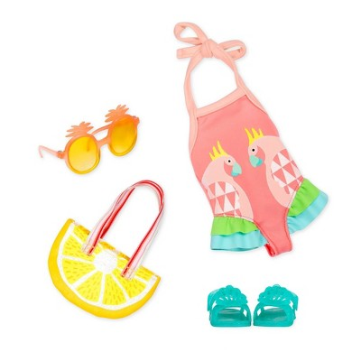 """Glitter Girls Ray of Light Swimsuit Outfit for 14"""" Dolls"""