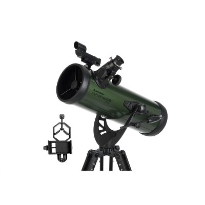 Celestron ExploraScope 114AZ Telescope with Basic Smartphone Adapter