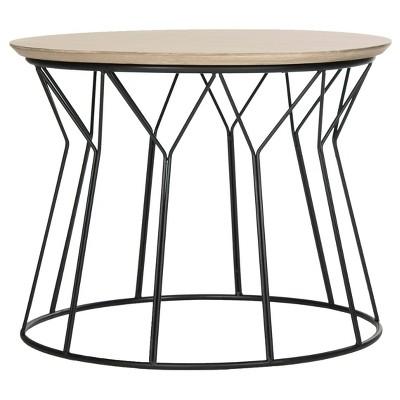 Alcott Mid-Century End Table - Light Gray - Safavieh