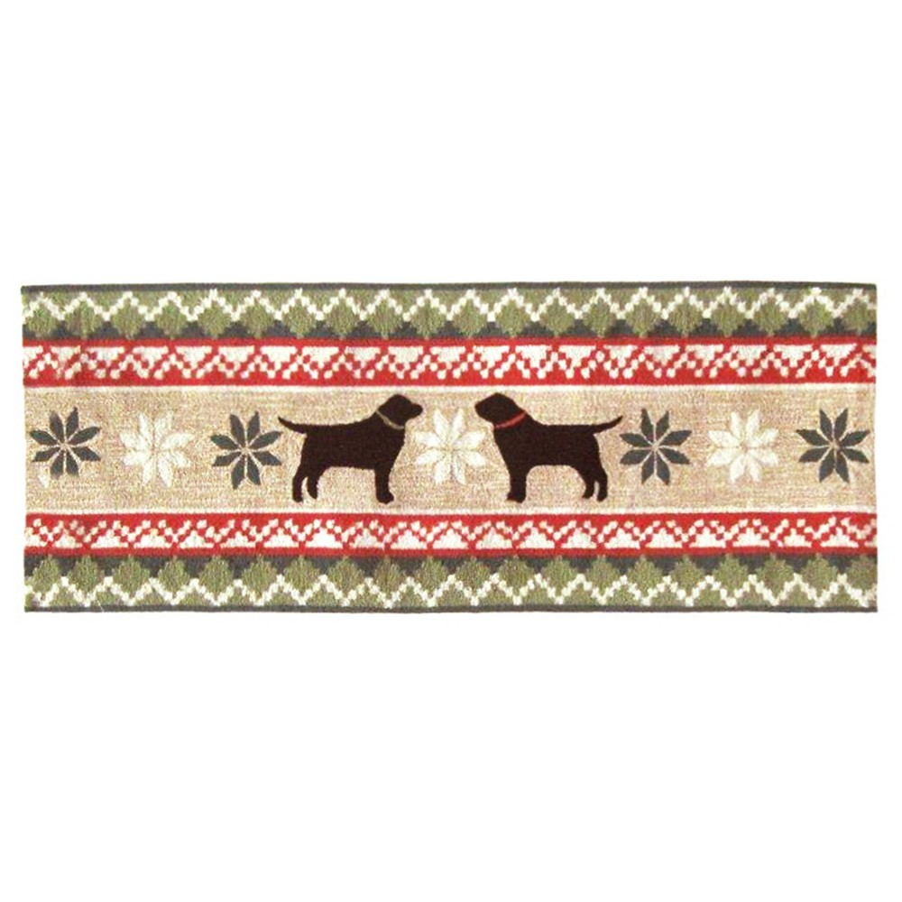 Liora Manne Nordic Dogs Indoor/Outdoor Holiday Runner (27