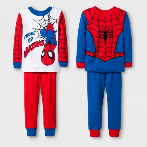 2feaba2567b0 Toddler Boys  Spider-Man 4pc Pajama Set - Red   Target