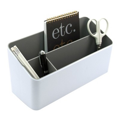 Fusion Desk Valet, White and Gray (37525)