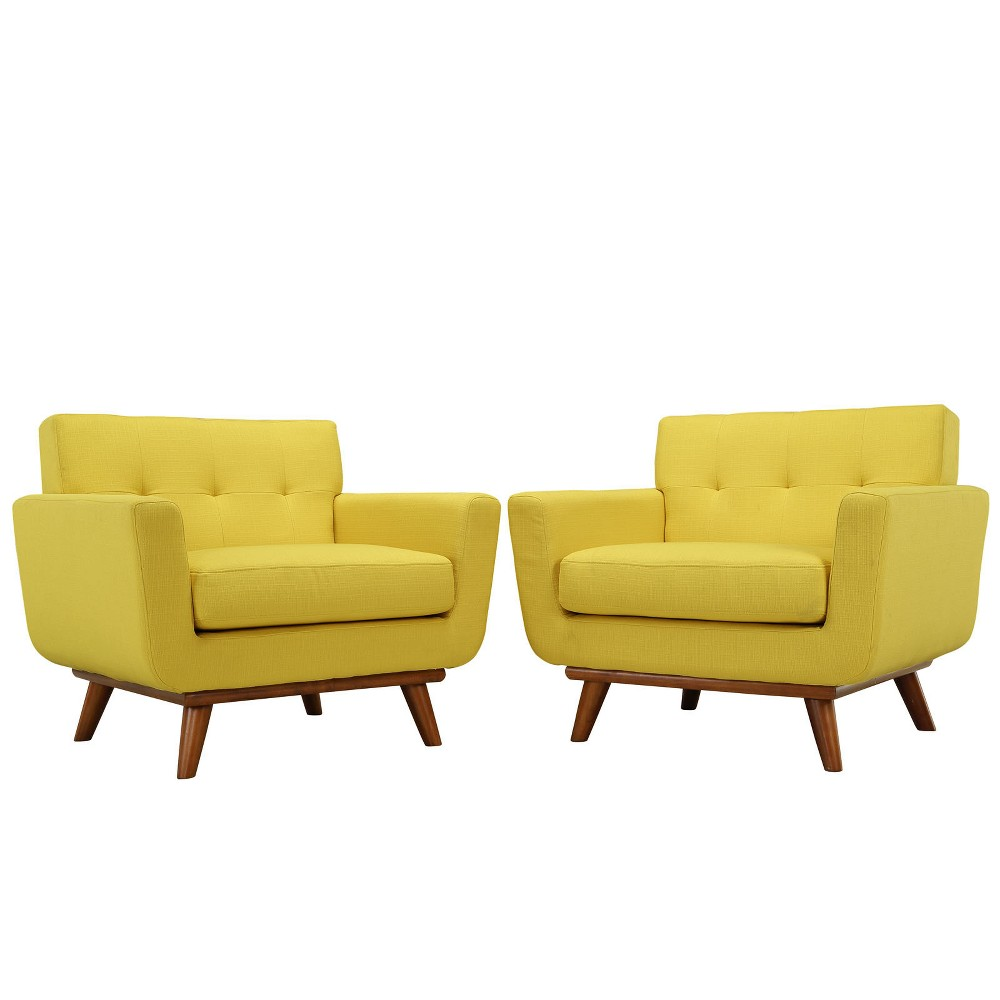 Engage Armchair Wood Set of 2 Sunny - Modway