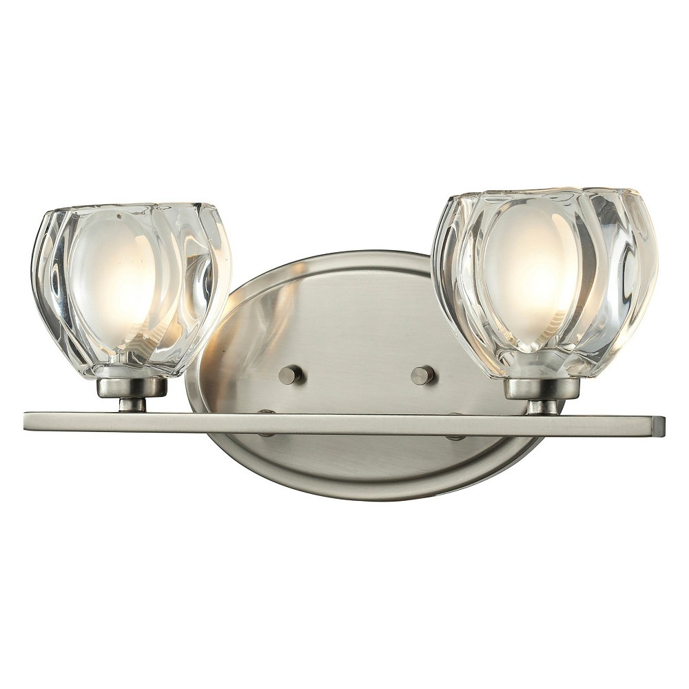 Image of Vanity Wall Lights with Clear and Frosted Glass (Set of 2) - Z-Lite