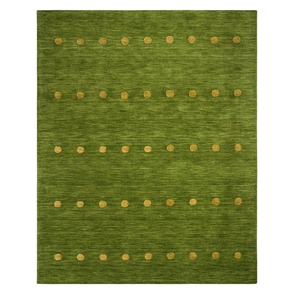 8'X10' Polka Dots Loomed Area Rug Green - Safavieh