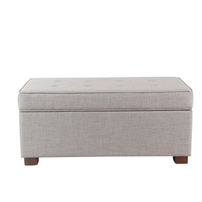 Bon Shelton Tufted Top Storage Ottoman   Threshold™ : Target