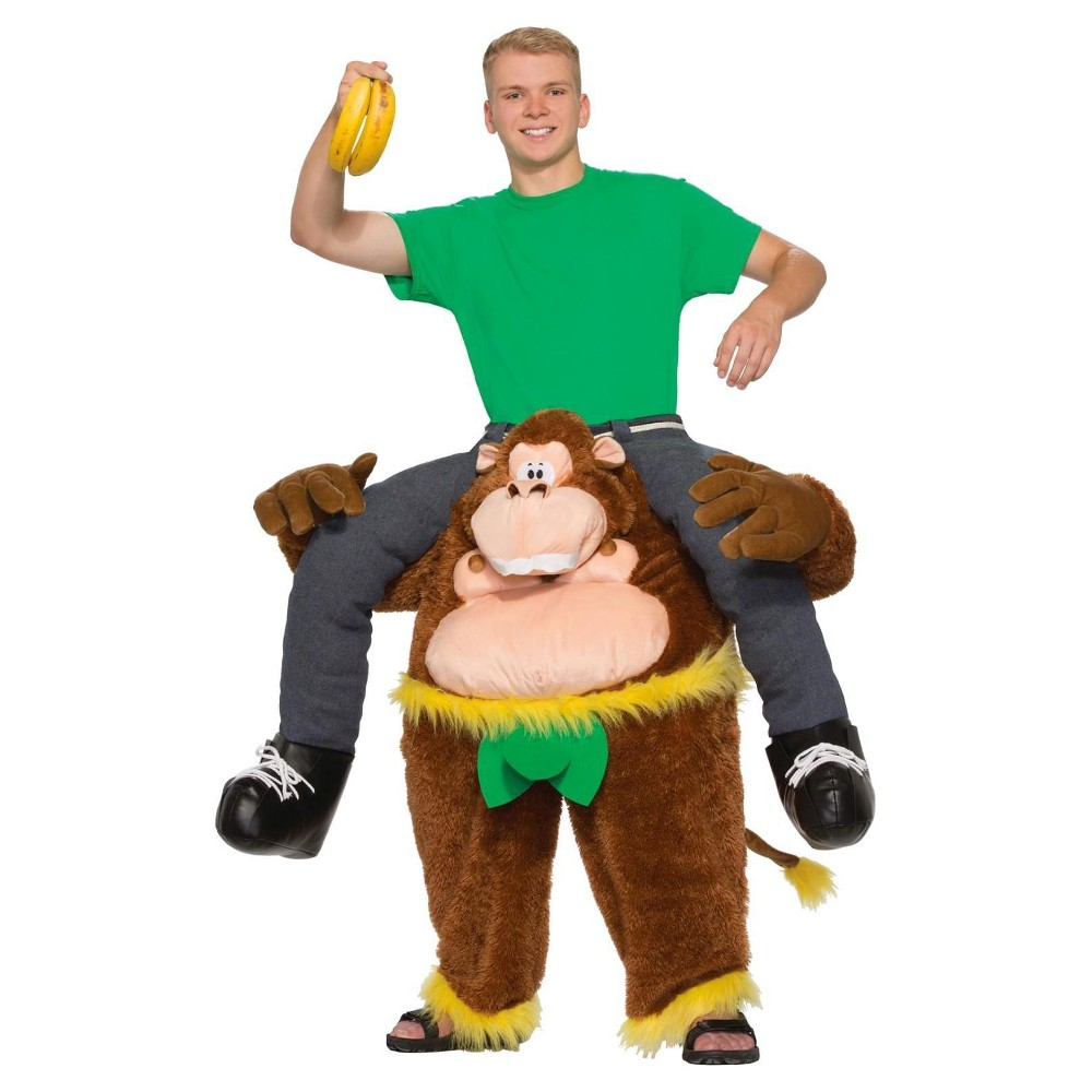Image of Halloween Monkeyin' Around Pull-On Pants Adult Costume, Adult Unisex, Size: Small, Brown