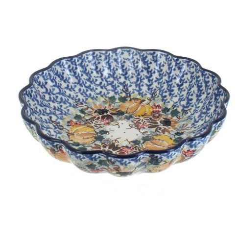 Blue Rose Polish Pottery Harvest Bounty Medium Scallop Dish - image 1 of 1