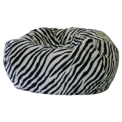 Gold Medal Microsuede XXL Safari Micro-Fiber Suede Animal Bean Bag - Zebra - image 1 of 1