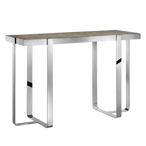 Brighton Console Table - Oak/Chrome - image 1 of 5