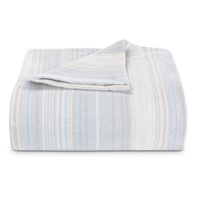 Sandy Shore Striped Bed Blanket - Tommy Bahama